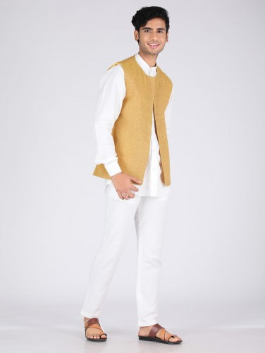 Kazi Mustard Matka Jute Over Jacket